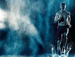hardloper in de regen