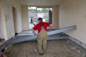Houten vloer vervangen door betonvloer