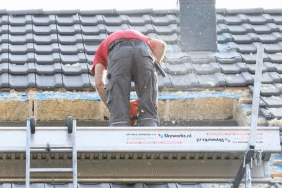 gat zagen voor dakkapel