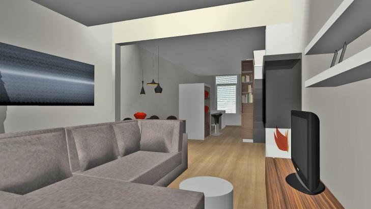 Interieurontwerp verbouwing verbouwkosten - Hoe een rechthoekige woonkamer te voorzien ...