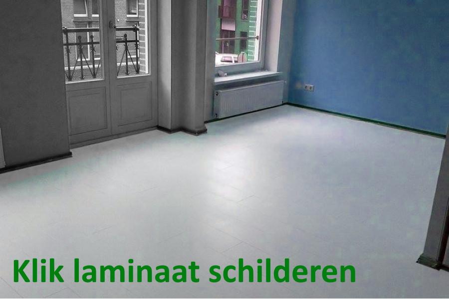 klik laminaat vloer schilderen