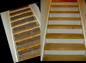 Traprenovatie prijzen ontdek de kosten in onze prijslijst - Renovatie van een houten trap ...