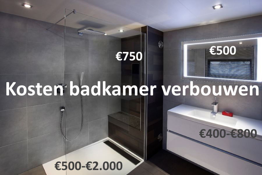 wat kost een badkamer Wat kost een badkamer?