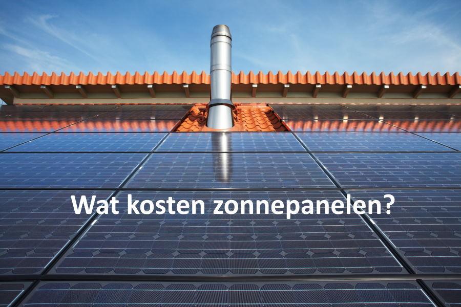 wat kosten zonnepanelen